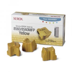 Bastão de Cera Original Xerox 108R00766 - 108R766 Phaser 8560 8560MFP - 3900 Pgs – Kit com 3 bastões Amarelo