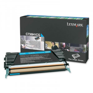 Toner Original C736dn Ciano - C736H1CG Lexmark