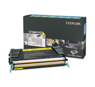 Toner Lexmark C736H1YG  Original C736dn Em 12x Sem Juros e Frete Grátis